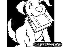 Perro con libro
